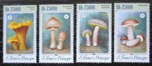 Poštovní známky Svatý Tomáš 2014 Houby Mi# 5785-88 Kat 10€