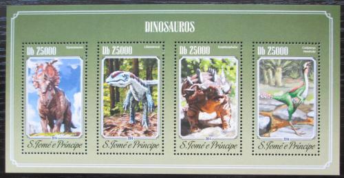 Poštovní známky Svatý Tomáš 2014 Dinosauøi Mi# 5800-03 Kat 10€