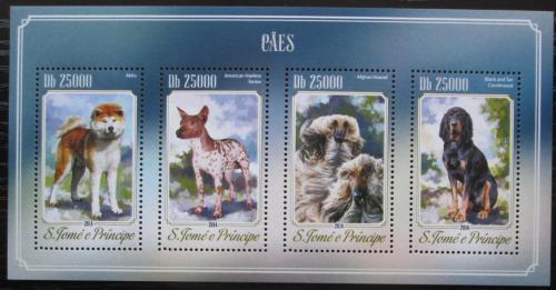 Poštovní známky Svatý Tomáš 2014 Psi Mi# 5825-28 Kat 10€