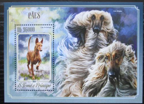 Poštovní známka Svatý Tomáš 2014 Psi Mi# Block 1021 Kat 10€