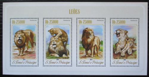 Poštovní známky Svatý Tomáš 2014 Lvi Mi# 5835-38 Kat 10€