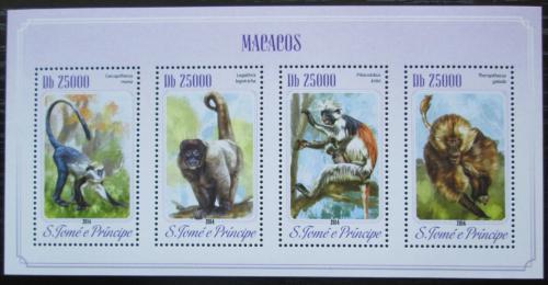 Poštovní známky Svatý Tomáš 2014 Opice Mi# 5845-48 Kat 10€