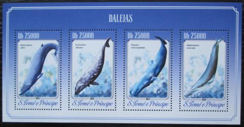 Poštovní známky Svatý Tomáš 2014 Velryby Mi# 5840-43 Kat 10€