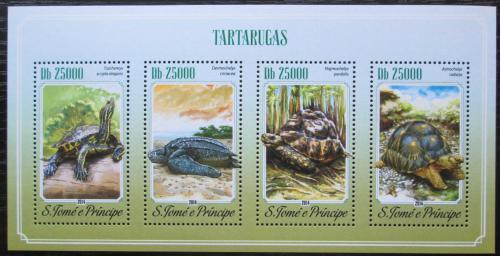 Poštovní známky Svatý Tomáš 2014 Želvy Mi# 5895-98 Kat 10€
