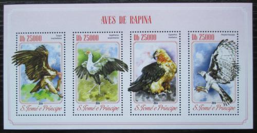 Poštovní známky Svatý Tomáš 2014 Dravci Mi# 5900-03 Kat 10€