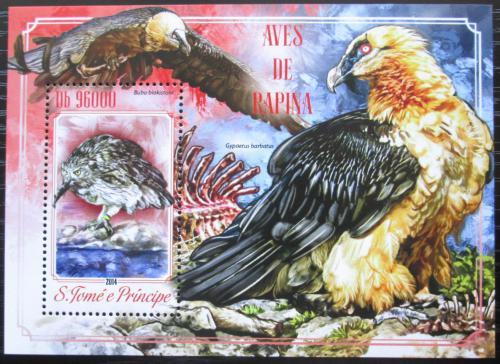 Poštovní známka Svatý Tomáš 2014 Dravci Mi# Block 1036 Kat 10€
