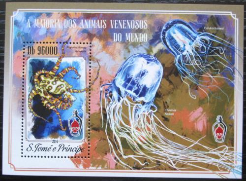 Poštovní známka Svatý Tomáš 2014 Jedovatá zvíøata Mi# Block 1034 Kat 10€