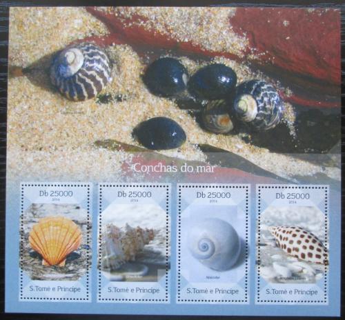 Poštovní známky Svatý Tomáš 2014 Mušle Mi# 5669-72 Kat 10€
