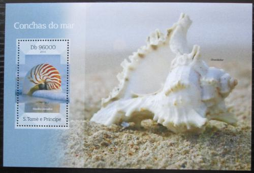 Poštovní známka Svatý Tomáš 2014 Mušle Mi# Block 993 Kat 10€