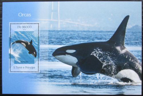 Poštovní známka Svatý Tomáš 2014 Kosatka dravá Mi# Block 1003 Kat 10€