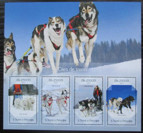 Poštovní známky Svatý Tomáš 2014 Tažní psi Mi# 5744-47 Kat 10€