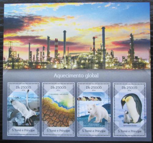 Poštovní známky Svatý Tomáš 2014 Globální oteplování Mi# 5739-42 Kat 10€