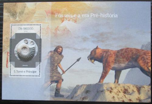 Poštovní známka Svatý Tomáš 2014 Pravìk Mi# Block 992 Kat 10€
