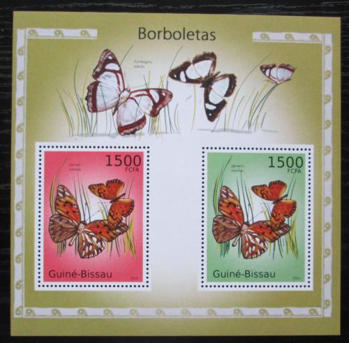 Poštovní známky Guinea-Bissau 2010 Motýli Mi# Block 876 Kat 12€