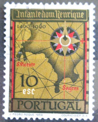 Poštovní známka Portugalsko 1960 Stará mapa Mi# 897