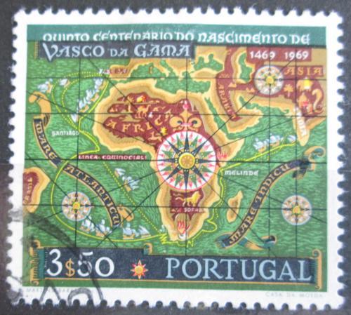 Poštovní známka Portugalsko 1969 Stará mapa Mi# 1090