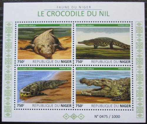 Poštovní známky Niger 2015 Krokodýli Mi# 3759-62 Kat 12€