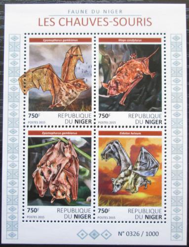 Poštovní známky Niger 2015 Netopýøi Mi# 3795-98 Kat 12€