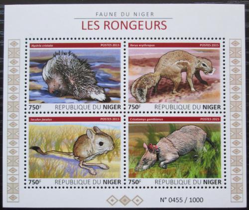 Poštovní známky Niger 2015 Hlodavci Mi# 3799-3802 Kat 12€