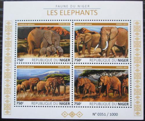Poštovní známky Niger 2015 Sloni Mi# 3803-06 Kat 12€