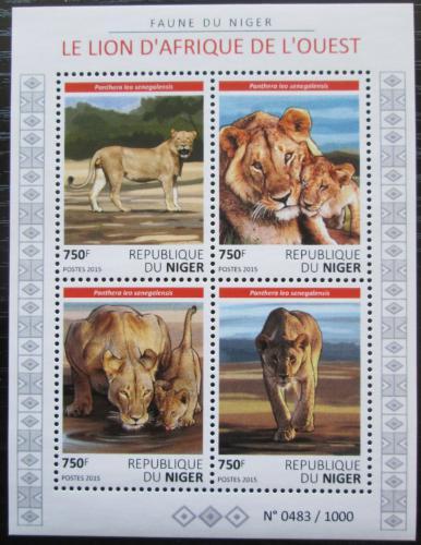 Poštovní známky Niger 2015 Lvi Mi# 3839-42 Kat 12€
