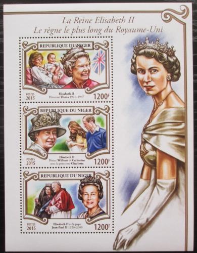 Poštovní známky Niger 2015 Královna Alžbìta II. Mi# 3610-12 Kat 14€