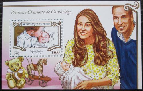Poštovní známka Niger 2015 Princezna Charlotte Mi# Block 472 Kat 13€