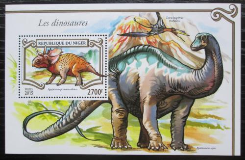 Poštovní známka Niger 2015 Dinosauøi Mi# Block 450 Kat 11€
