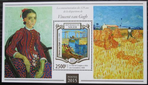 Poštovní známka Niger 2015 Umìní, Vincent van Gogh Mi# Block 411 Kat 10€