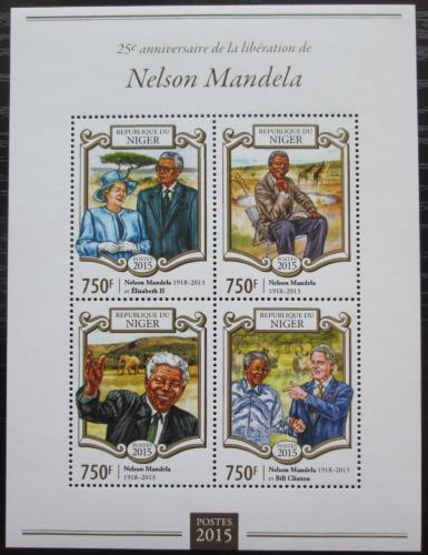 Poštovní známky Niger 2015 Nelson Mandela Mi# 3380-83 Kat 12€