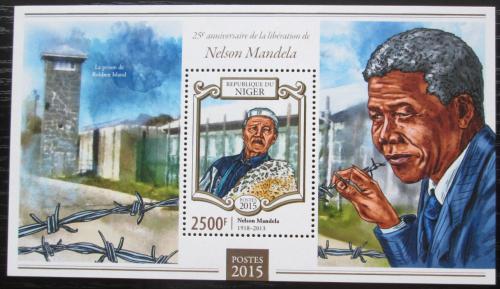 Poštovní známka Niger 2015 Nelson Mandela Mi# Block 420 Kat 10€