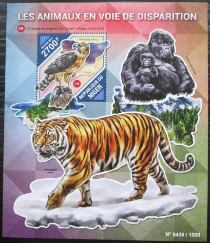 Poštovní známka Niger 2015 Ohrožená fauna Mi# Block 483 Kat 10€