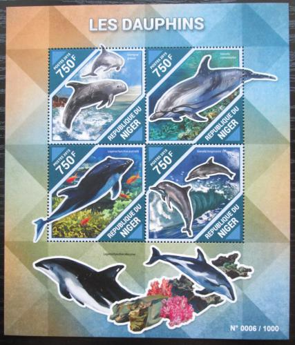 Poštovní známky Niger 2015 Delfíni Mi# 3902-05 Kat 12€