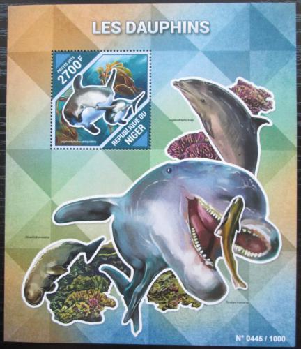Poštovní známka Niger 2015 Delfíni Mi# Block 485 Kat 10€