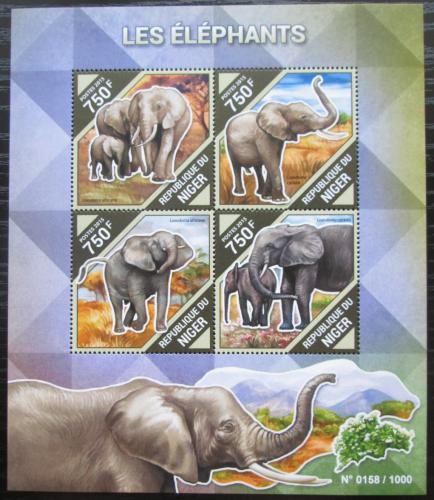 Poštovní známky Niger 2015 Sloni Mi# 3897-3900 Kat 12€
