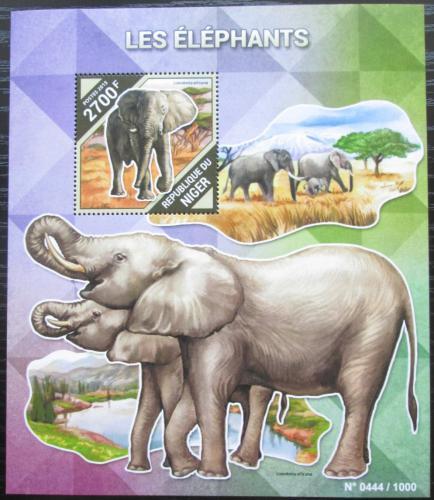Poštovní známka Niger 2015 Sloni Mi# Block 484 Kat 10€