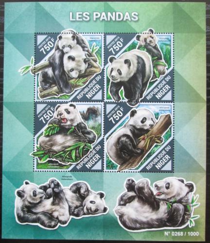 Poštovní známky Niger 2015 Pandy Mi# 3907-10 Kat 12€