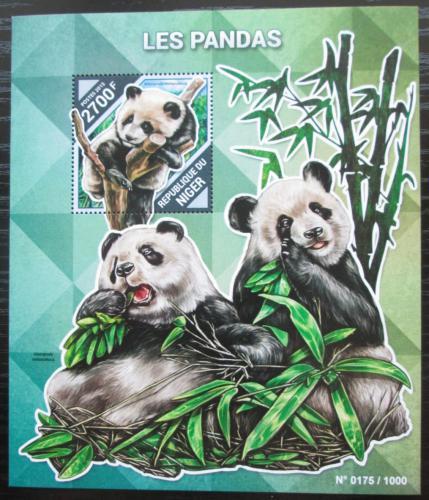 Poštovní známka Niger 2015 Pandy Mi# Block 486 Kat 10€