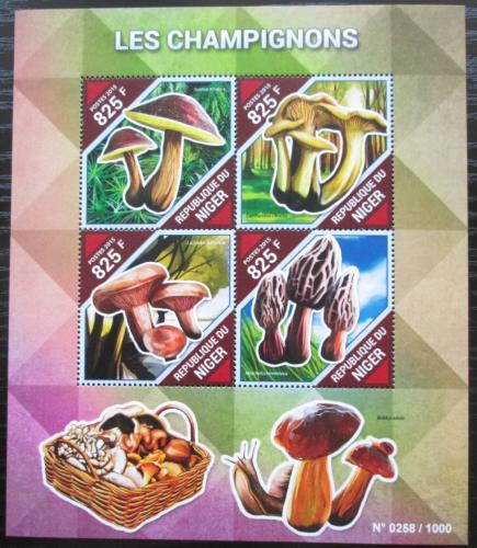 Poštovní známky Niger 2015 Houby Mi# 3857-60 Kat 13€