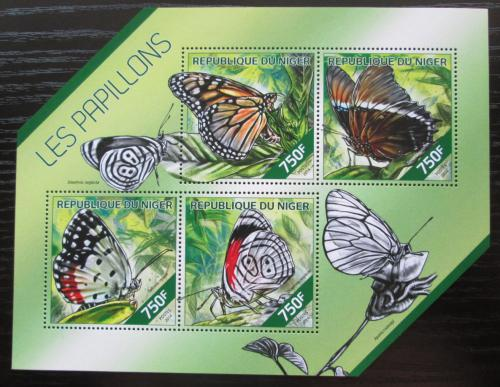 Poštovní známky Niger 2014 Motýli Mi# 2775-78 Kat 12€