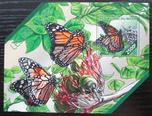 Poštovní známka Niger 2014 Motýli Mi# Block 297 Kat 10€