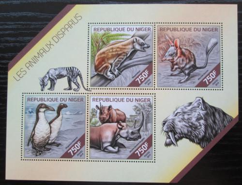 Poštovní známky Niger 2014 Vyhynulá fauna Mi# 2810-13 Kat 12€