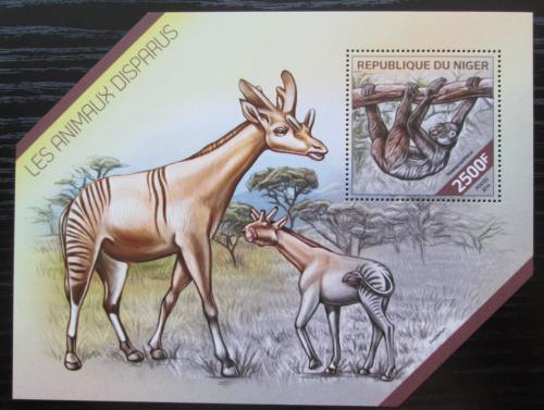 Poštovní známka Niger 2014 Vyhynulá fauna Mi# Block 304 Kat 10€
