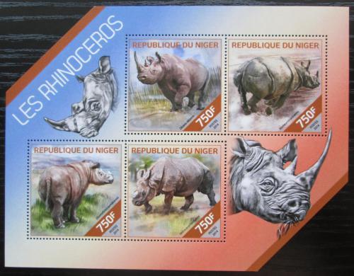 Poštovní známky Niger 2014 Nosorožci Mi# 2825-28 Kat 12€