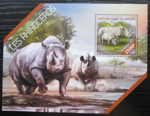 Poštovní známka Niger 2014 Nosorožci Mi# Block 307 Kat 10€