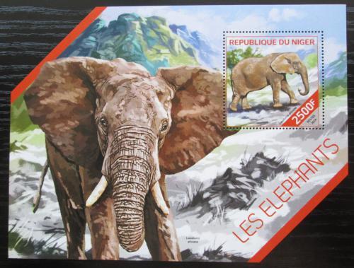 Poštovní známka Niger 2014 Sloni Mi# Block 308 Kat 10€
