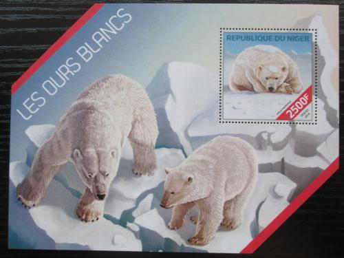 Poštovní známka Niger 2014 Lední medvìdi Mi# Block 309 Kat 10€