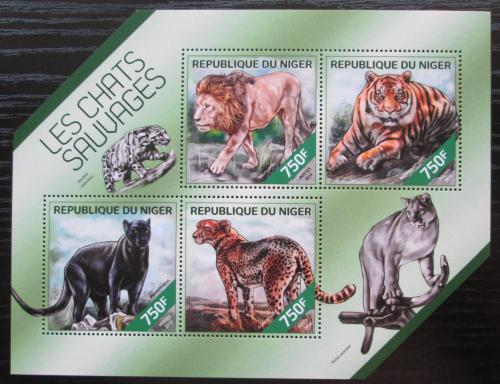 Poštovní známky Niger 2014 Koèkovité šelmy Mi# 2845-48 Kat 12€