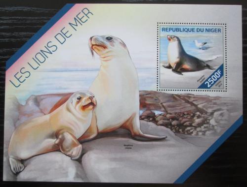 Poštovní známka Niger 2014 Lachtani Mi# Block 314 Kat 10€