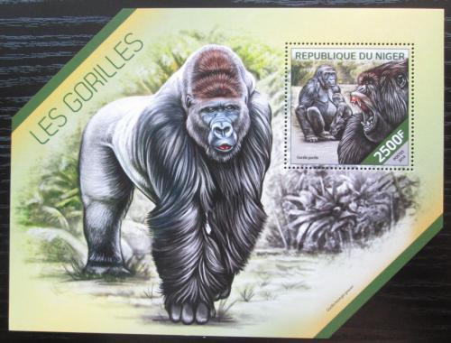 Poštovní známka Niger 2014 Gorily Mi# Block 317 Kat 10€